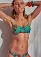 Morhipo Beach Tukan Desenli Bikini Turkuaz